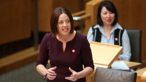 Skotska parlamentsledamoten Monica Lennon 27.4.2017
