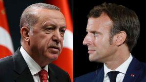 Recep Tayyip Erdogan och  Emmanuel Macron