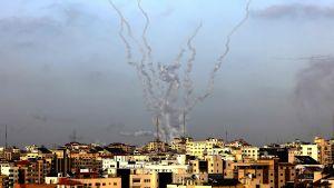 Raketer har avfyrats mot Israel från Gaza den 10 maj 2021 i samband med demonstrationer under Jerusalem-dagen.