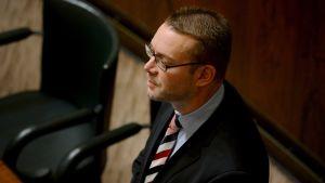 Stefan Wallin (SFP) under riksdagens debatt om skolsvenskan den 5 mars 2015.