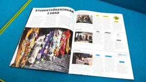"""Det första numret av """"Studiestödet"""", en tidning för nya studerande i Vasa."""