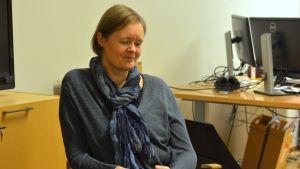 Närbild av Charlotta Lindvall, ekonomichef i Ingå.