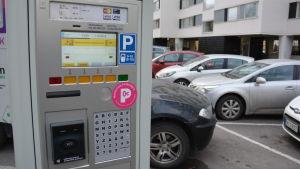 Parkeringsautomat i Åbo.