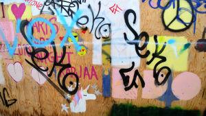 graffiti på vägg