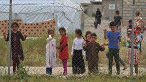 barn på läger i syrien.