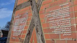 Informationstavlan på Lockster Lagers lägerklocka