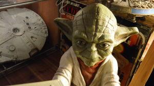 Yoda och modeller från Stjärnornas krig