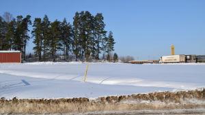 Markområde intill ABC-stationen i Gammelby i Lovisa.