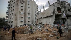 Förstörda byggnader i Gaza