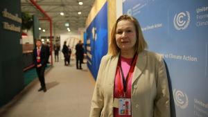 Finlands chefsförhandlare på klimatmötet Outi Honkatukia