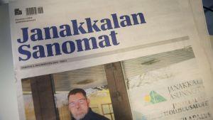 Janakkalan Sanomien kansi 6. helmikuuta 2020.