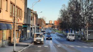 Rådhusgatan i Jakobstad.