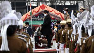 Republikens dag i Indien som firas på kricketstadion i Kashmirs huvudstad Srinagar