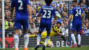 Petr Cech, Chelseas målvakt, våren 2015.