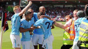 Manchester City besegrade Bournemouth.