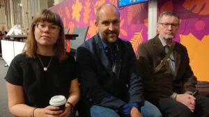 Anna Lindholm, Sture Lindholm och Torsten Ekman.