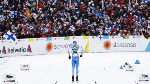 Iivo Niskanen i VM-guldloppet 2017.