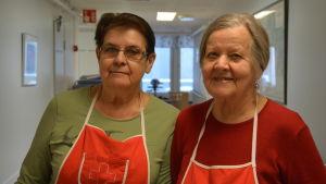 Barbro Lax och Gunborg Sandström.