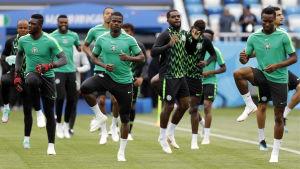 Nigeria tränar inför VM