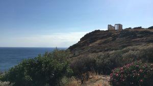 Det magnifika Poseidontemplet söder om Aten