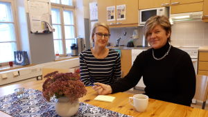 Kiti Lindén och Lisa Kentala.