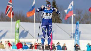 Andrea Julin skidar i världscupen, januari 2019.