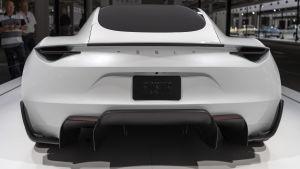 Tesla Roadster på bilmässan i Basel september 2018.