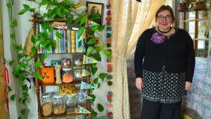 Nina Wiklund i sitt hem Lilla Ljufva.