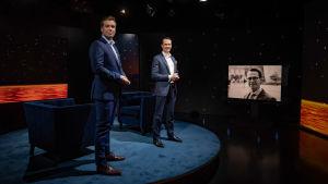 Carl Haglund vieraana Daniel Olin showssa.