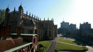 Windsor Castle inför Meghan Markles och prins Henrys vigsel St George's Chapel