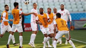 Tunisiens VM-lag tränar.
