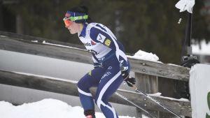 Krista Pärmäkoski på fristilsmilen i Toblach.
