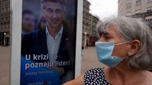 Valaffisch inför parlamentsvalet i Kroatien 5.7.2020