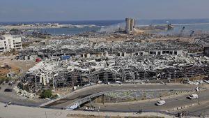 Förstörelse efter explosion i Beirut
