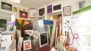 Seppo Fräntis konstsamling förvarandes först i hans hem. Foto: Nationalgalleriet / Pirje Mykkänen
