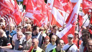 Polska ultranationalister demonstrerar