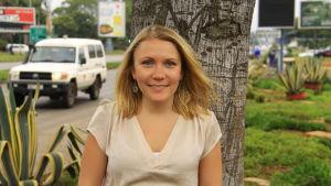 Liselott Lindström på plats i Harare.