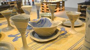 Keramik på Elina Sorainens minnesutställning