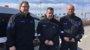 Johan Hagström, Klaus Renfors och Tomas Eriksson
