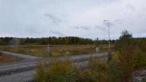 Långskogens industriområde i Vasa, ännu obebyggt.