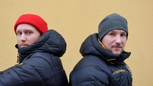 Andreas Flinck & Raoul Karlqvist från Akilles bandy, Borgå