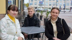 Lisa Rönnberg, Elmer Skog och Emilia Melén