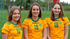 Sara Andberg, Jolanda Berg och Nicole Berg