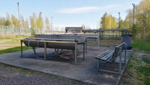 Mattvätt på landbacken i Ingå.