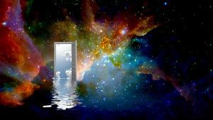 Konstnärens vision av en port till ett parallellt universum.
