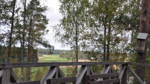 utsikt från terass över åkrar