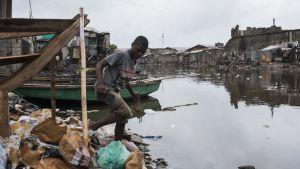Irma har fört med sig störtregn och översvämningar i Haiti.