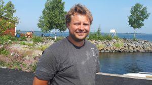 Sebastian Höglund på Ådön.