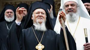 Patriarken Bartolomeus I av Konstantinopel.