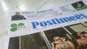 Den estniska dagstidningen Postimees.